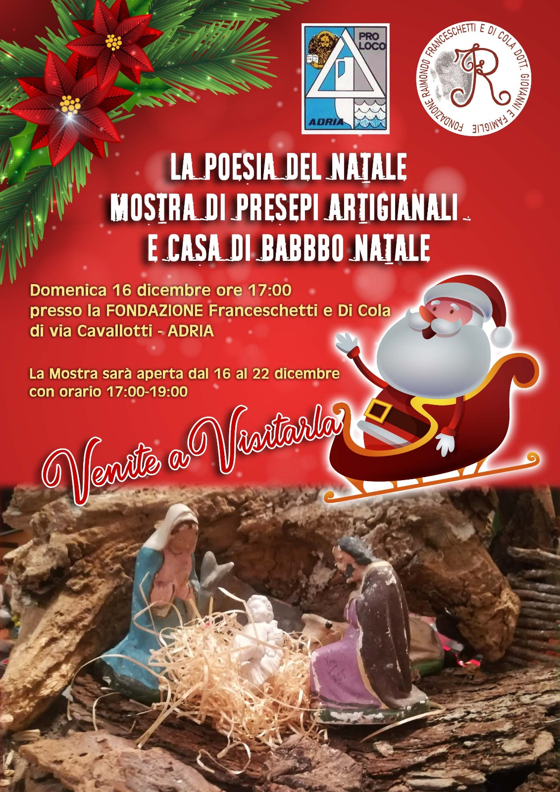 Poesie Di Natale 3 Media.Fond Ne Franceschetti E Di Cola La Poesia Del Natale Mostra Di
